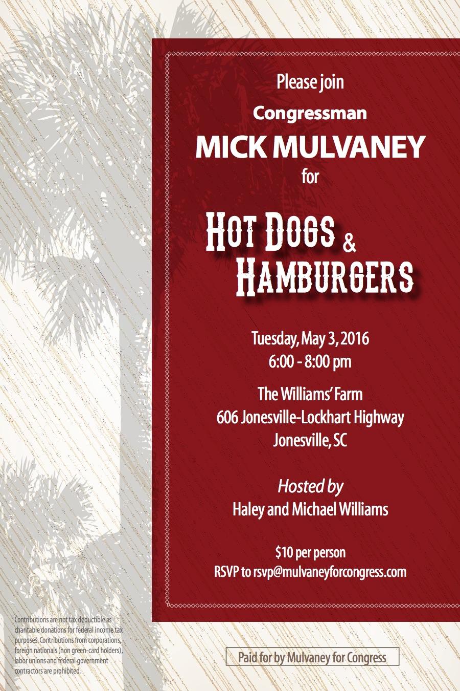 Hot Dog-Hambruger Invite