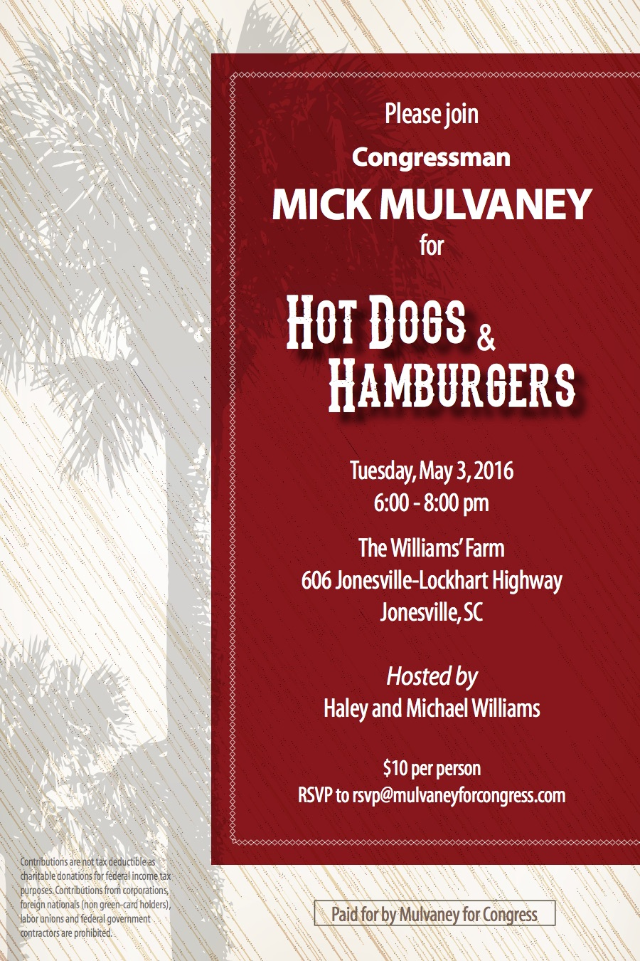 Hot Dog-Hambruger Invite